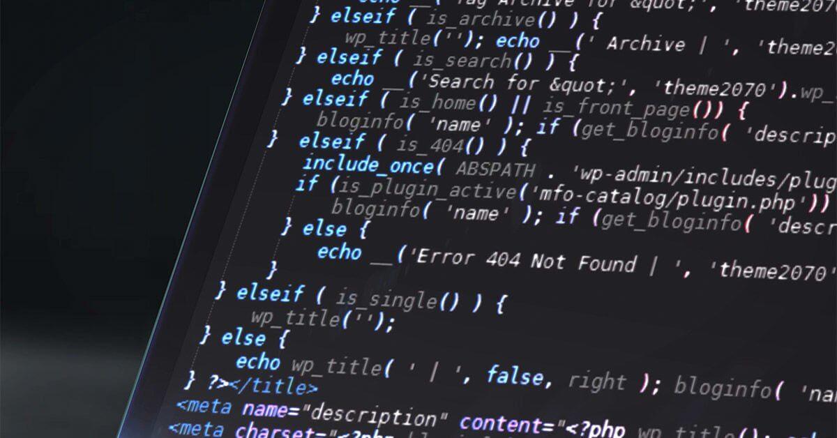 На фото изображен программный код на экране.