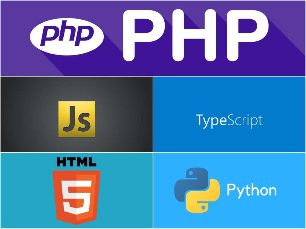 На фото изображен коллаж из нескольких языков программирования.