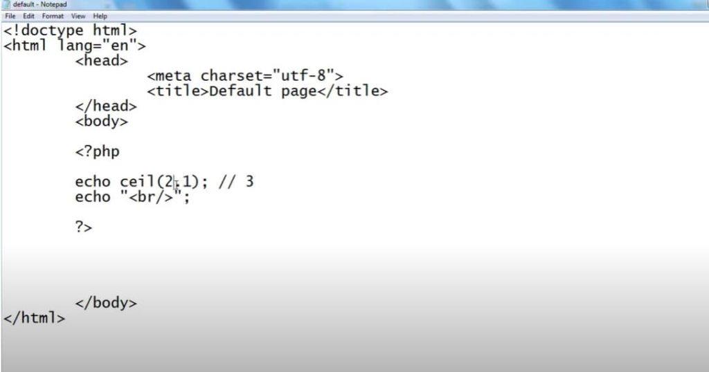 На фото изображено окно редактора Notepad.