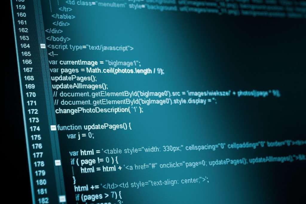 На фото изображена часть программного кода на экране.