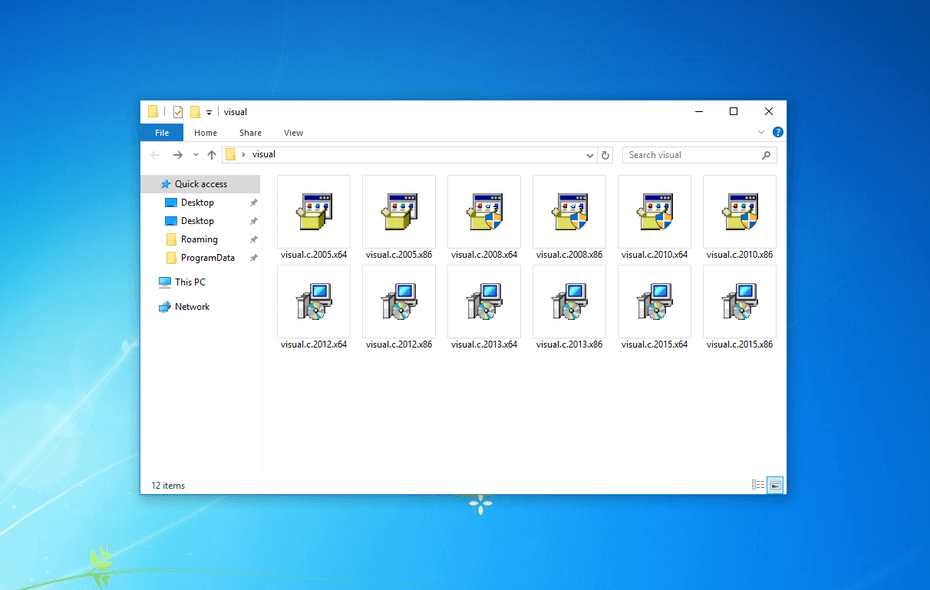 Все пакеты Microsoft visual C++. Скачать и установить
