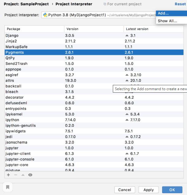 Создание виртуальных окружений на Python